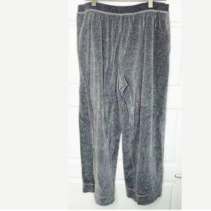 Lafayette 148 velour wide leg pants